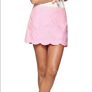 Lilly Pulitzer Pink Seersucker Skort 00